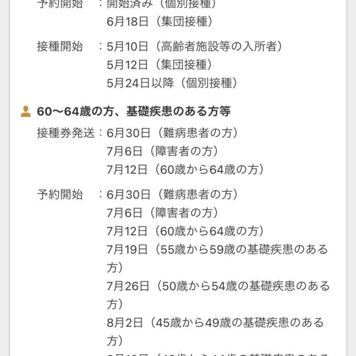 名古屋市の新型コロナウイルスワクチン接種の情報